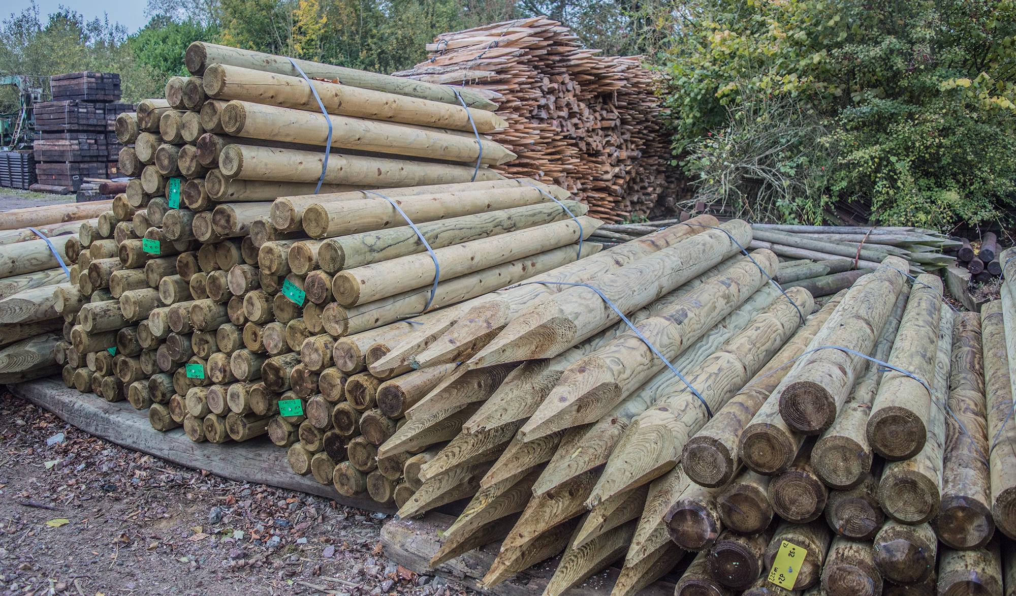 poteaux bois pour cloture équestre traitement au sel