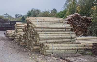 Poteaux pour cloture de l'entreprise Cloture Bois Boscher à MOYAUX 14590 Normandie France